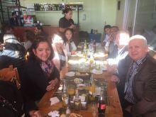 Momento de descontração entre CIOFF Brasil e CIOFF Paraguai