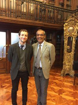 Presidente do CIOFF Brasil, Sr. Marco Antônio Carvalhaes e Sr. Emilio De La Cerda, Subsecretário de Patrimônio do Ministério de Cultura do Chile